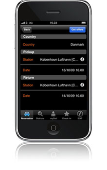 isixt iphone app en 04 NEW 04 Sixt oppdaterer sin app. til iphone